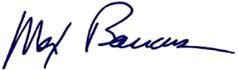Max Baucus Signature